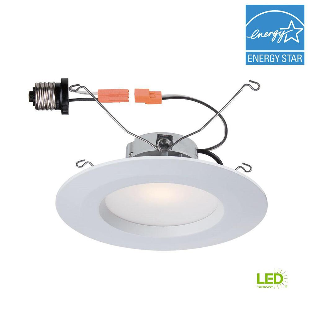 Commercial Electric 6 in. White Integrated LED Recessed Trim
