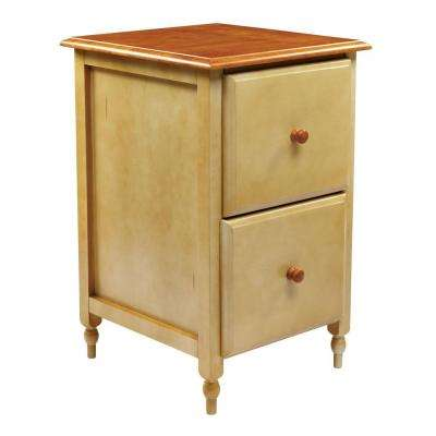 Tan and Cherry File Cabinet