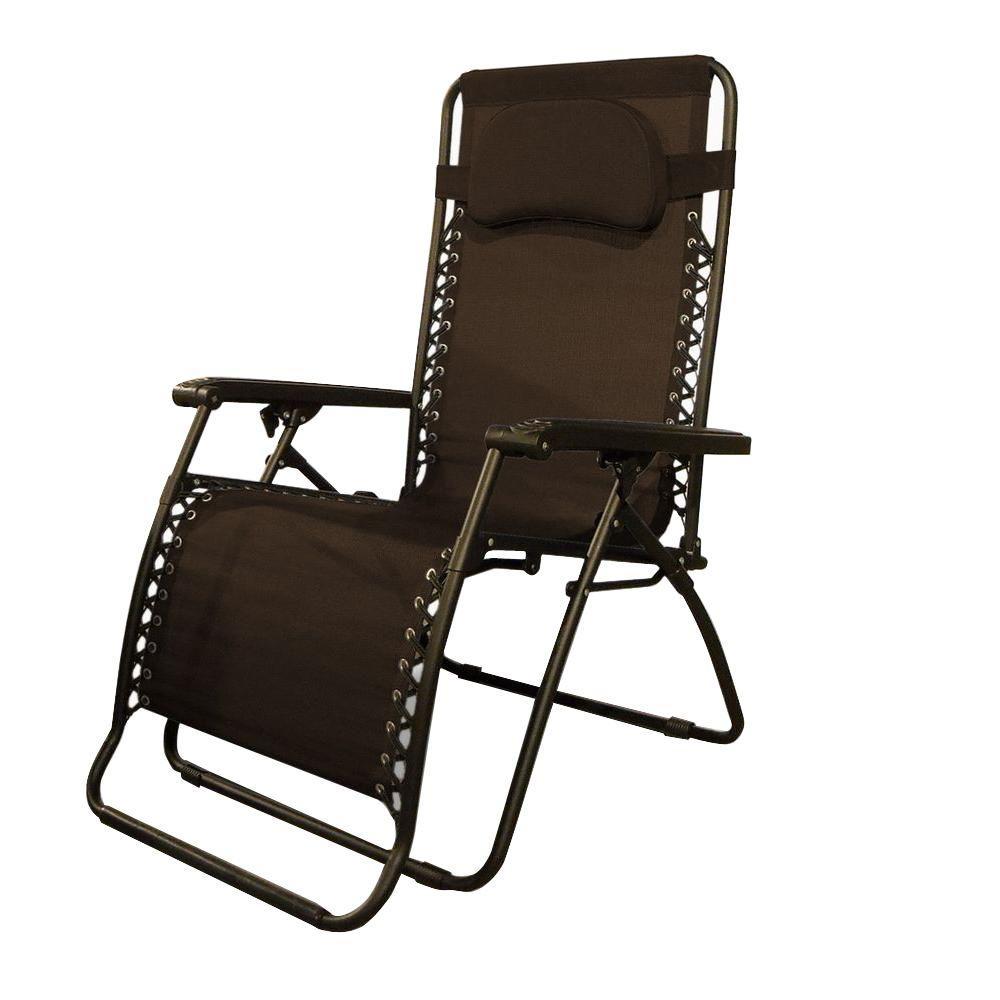 Caravan Sports Infinity Oversize Brown Zero Gravity Patio Chair