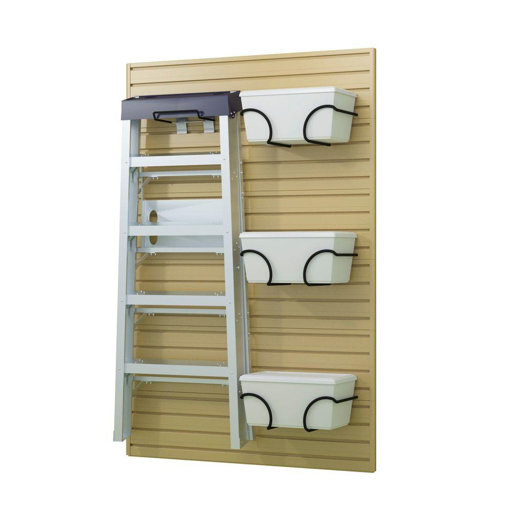 Flow Wall Ladder Hook and Bin Bracket in Maple