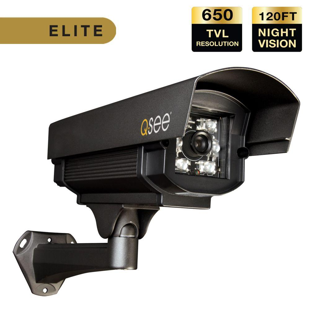 Q-SEE Elite Series Indoor/Outdoor 650 TVL Extreme Weather Bullet Security Camera with 120 ft. Night Vision