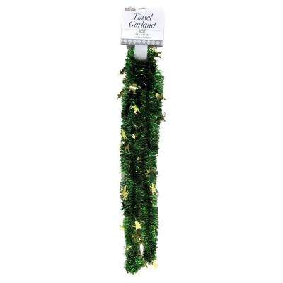 9 ft. St. Patrick Clover Garland Green with Gold Leprechauns (Set of 4)