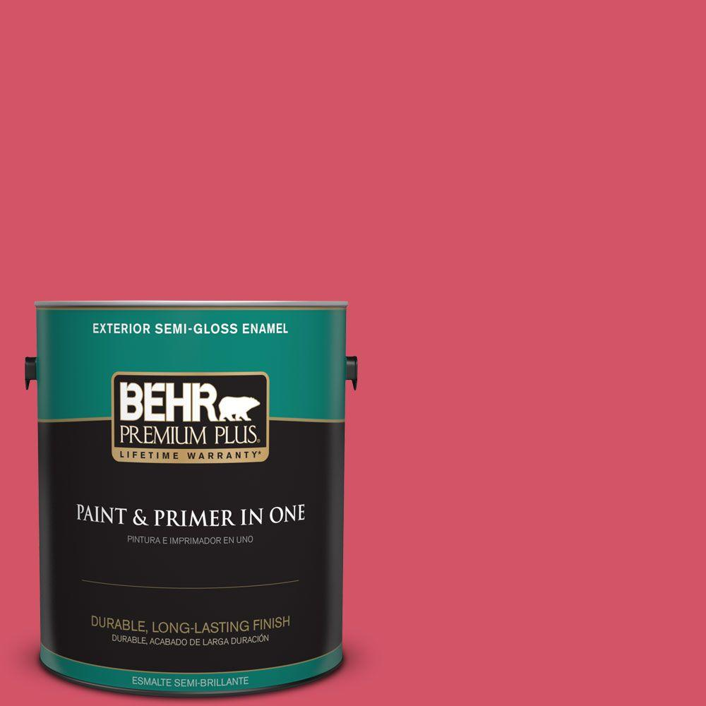 BEHR Premium Plus 1-gal. #130B-6 Dragon Fruit Semi-Gloss Enamel Exterior Paint
