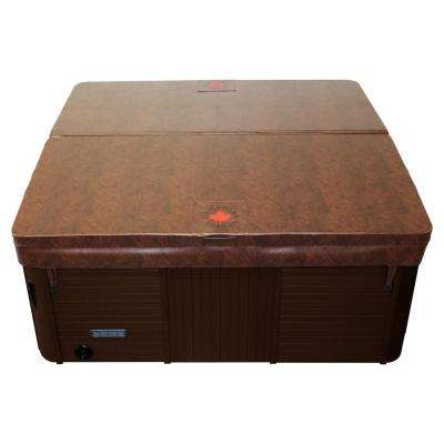 90 in. x 90 in. Square Hot Tub Cover with 5 in./3 in. Taper - Chestnut