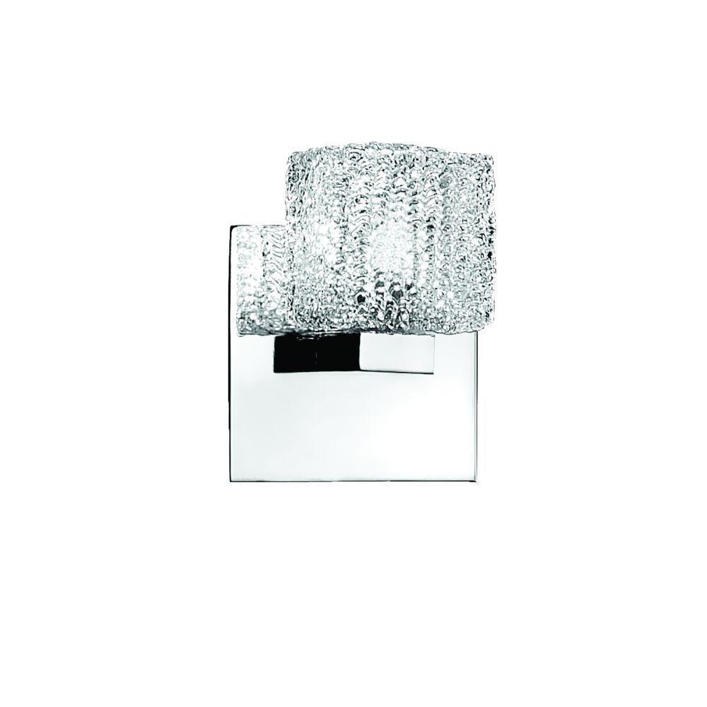 Eurofase Rain Collection 1-Light Chrome Wall Sconce