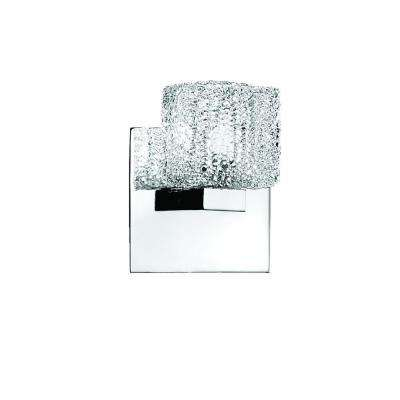 Rain Collection 1-Light Chrome Wall Sconce