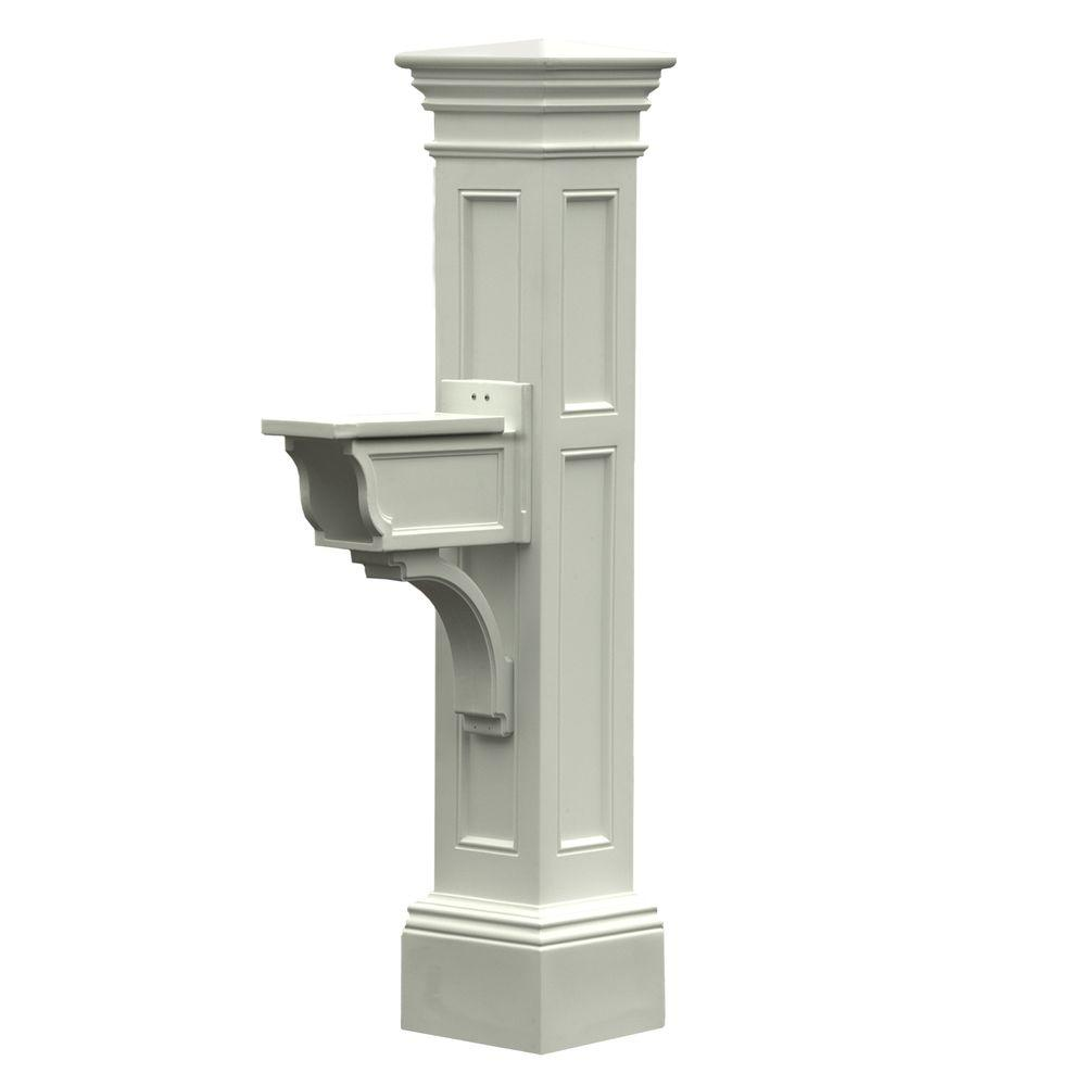 Mayne Estate Plastic Mailbox Post, White