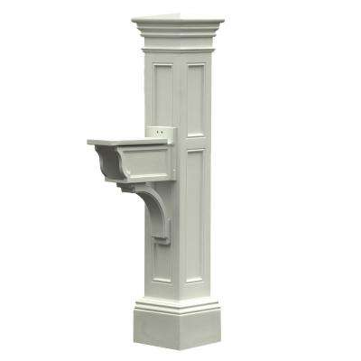 Estate Plastic Mailbox Post, White