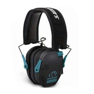 Razor Slim Electronic Bluetooth Ear Muffs with NRR 23 dB, Black and Teal