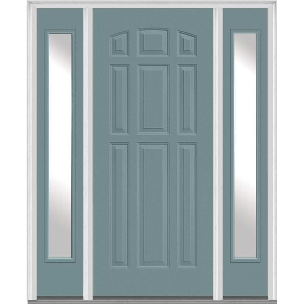 Southern Side Lite Blue Doors With Glass Fiberglass Doors