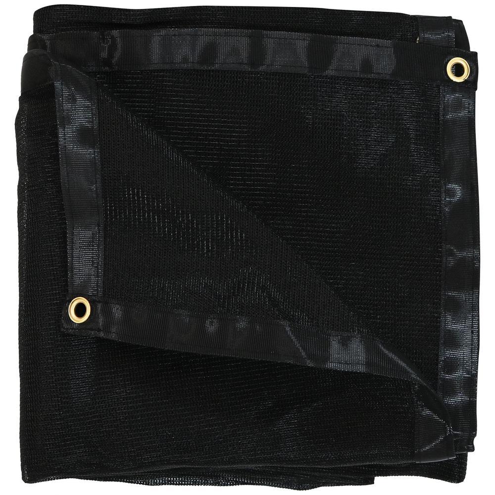 8 ft. x 10 ft. Black Polyethylene Mesh Tarp