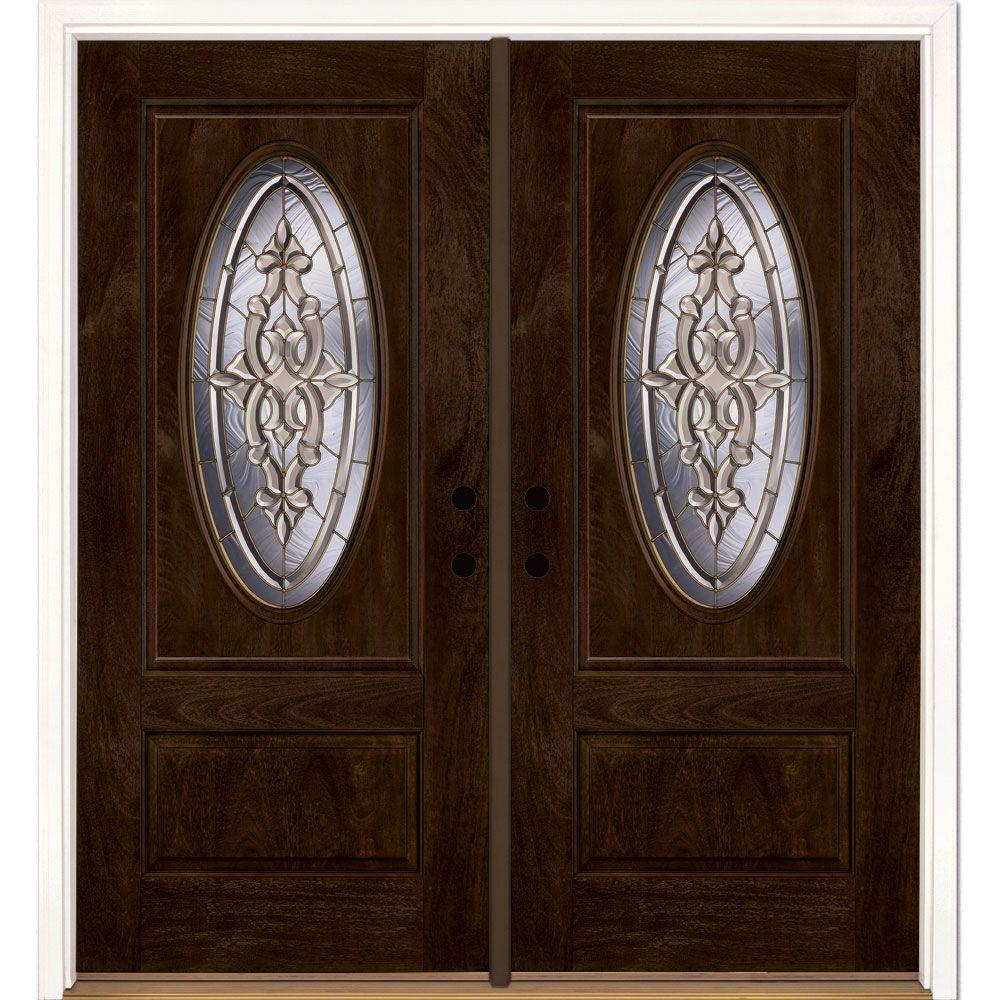 Feather River Doors 74 In X81 625 In Silverdale Brass 3 4