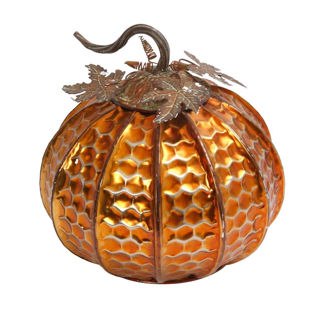 13 in. Elegant Tabletop Harvest Pumpkin