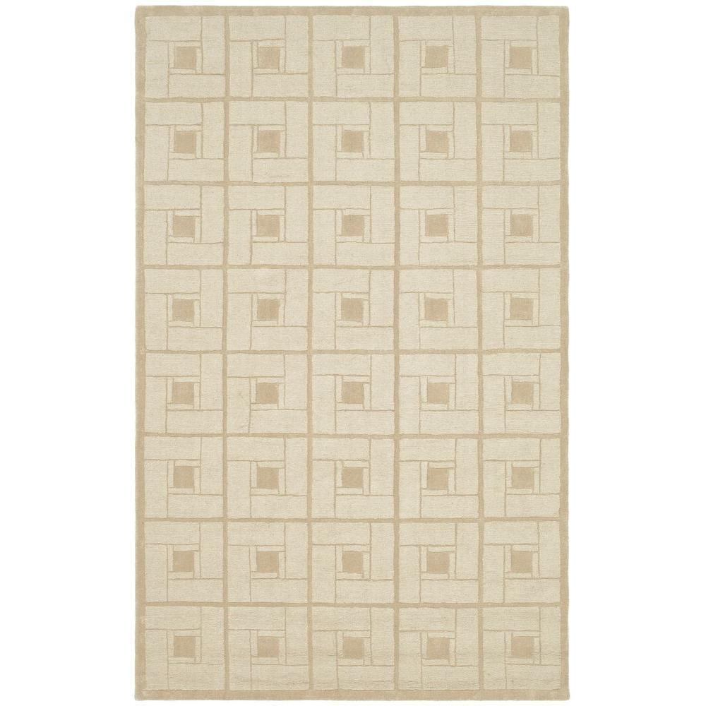 Martha Stewart Living Martha Stewart Square Knot Corkboard 8 ft. x 10 ft. Area Rug