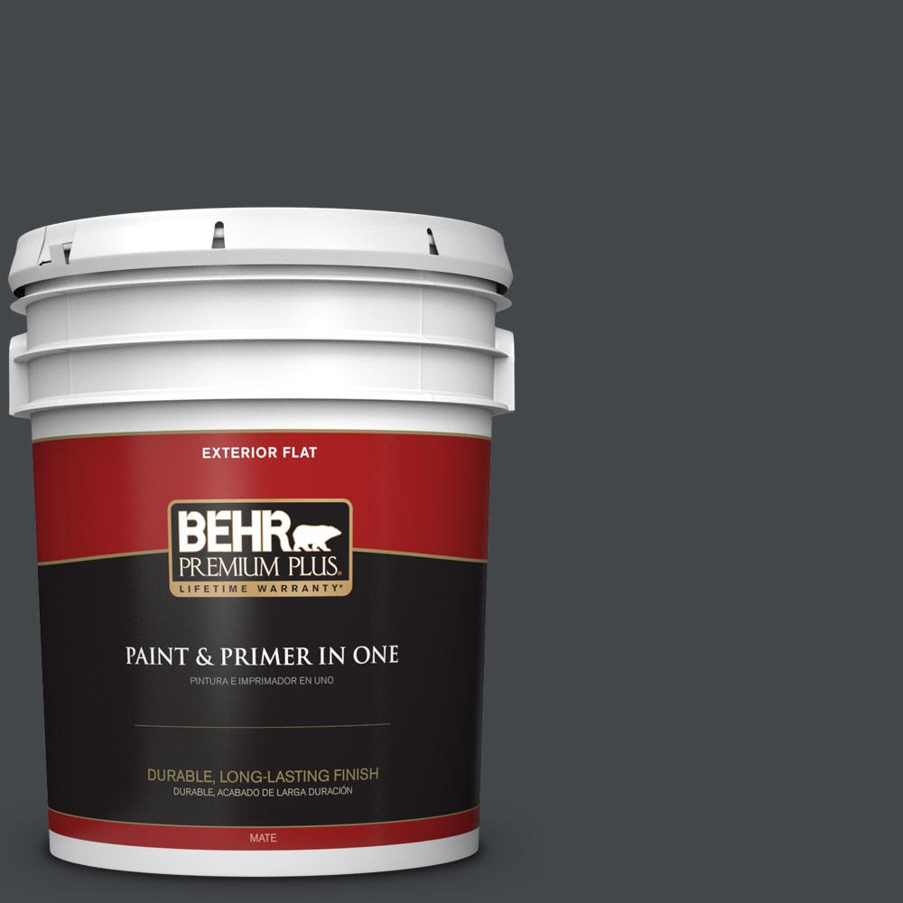5 gal. #PPU24-23 Little Black Dress Flat Exterior Paint