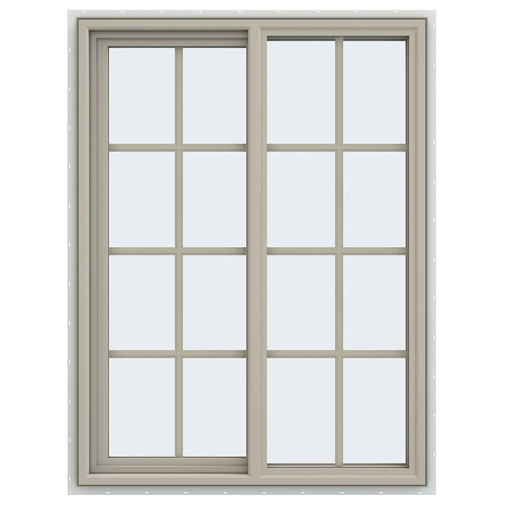 35.5 in. x 47.5 in. V-4500 Series Left-Hand Sliding Vinyl Window