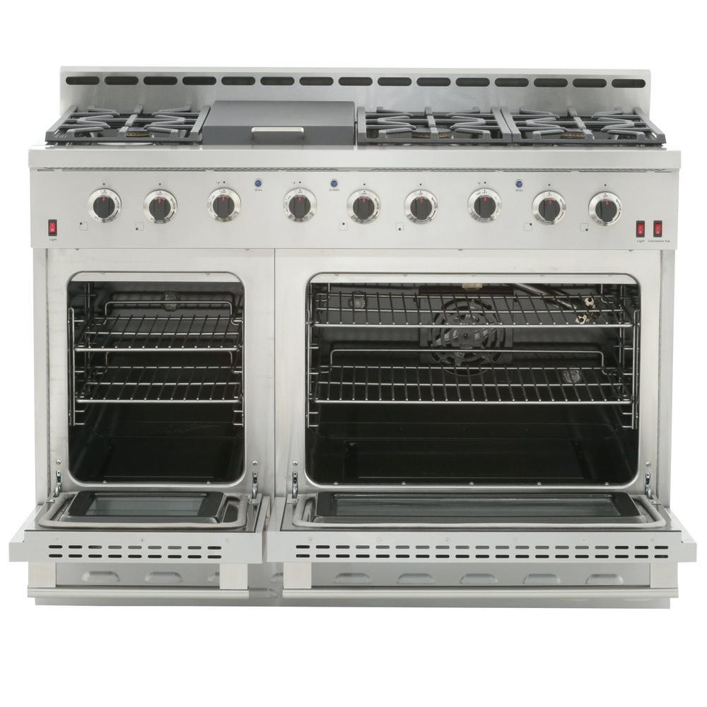 ft Professional Style Gas Range Hood 7.2 cu NXR RHBD SC4811 Bundle 48 in