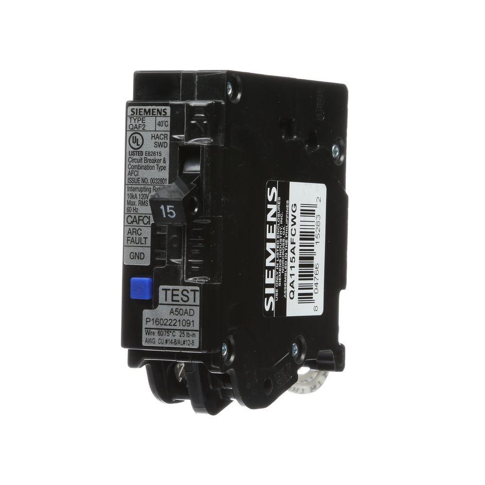 Siemens 15 Amp Single Pole WireGuide Afci Circuit Breaker