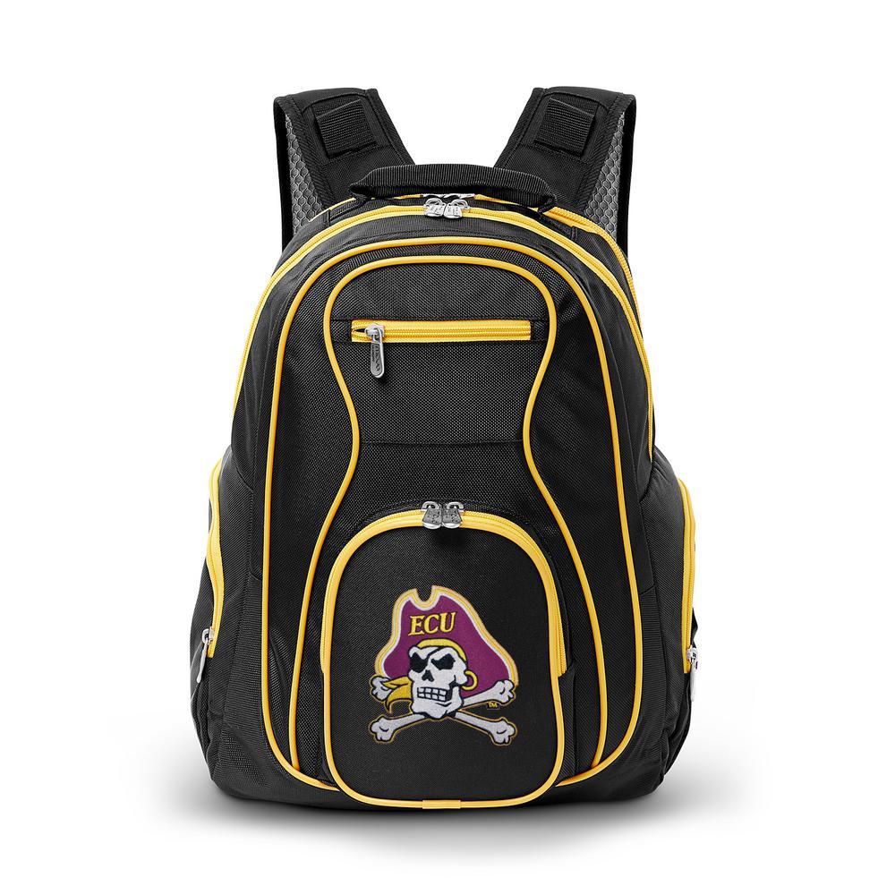 NCAA East Carolina Pirates 19 in. Black Trim Color Laptop Backpack