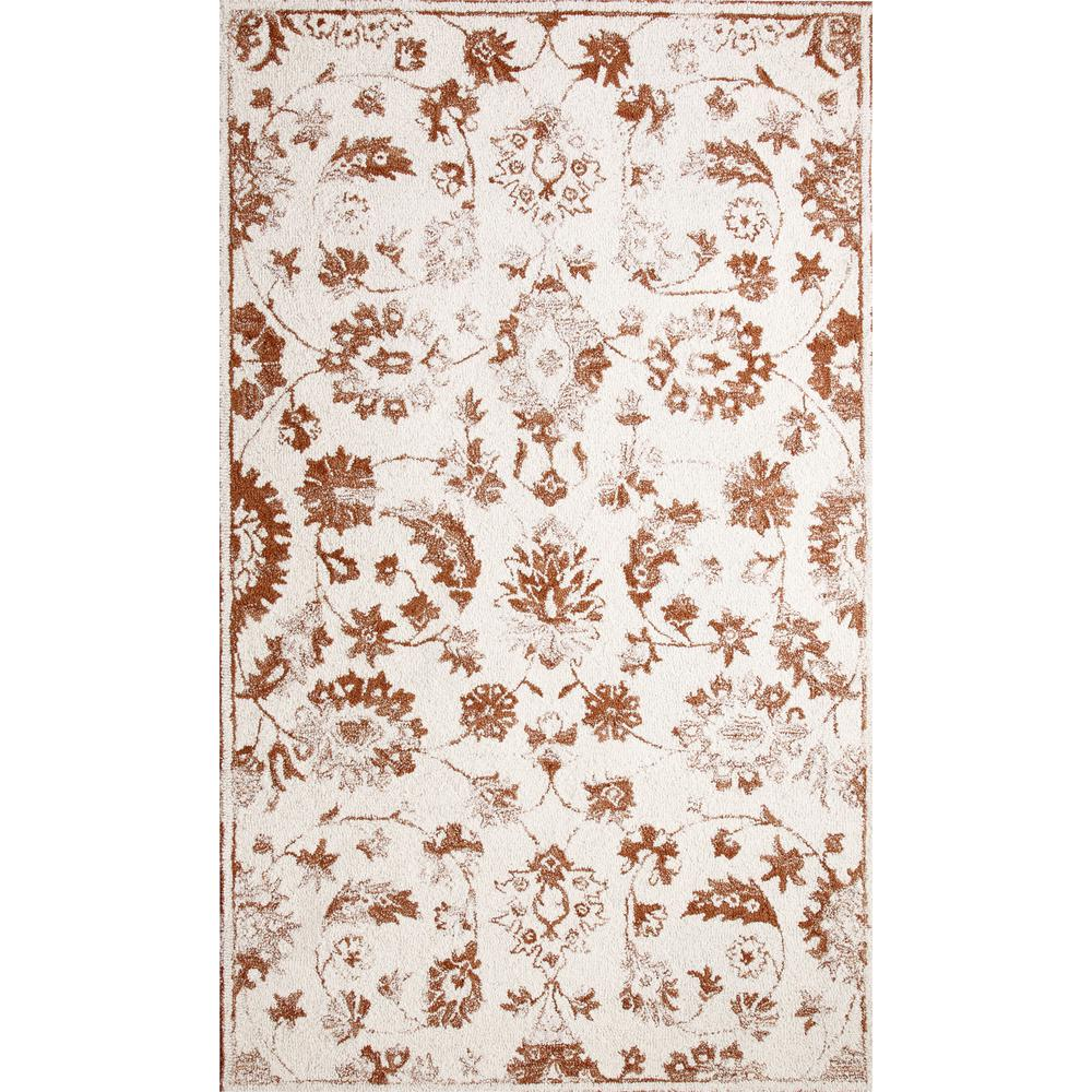 Avalon Ivory/Rust 2 ft. x 4 ft. Indoor Area Rug