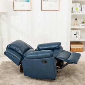 Amazing Clifton Navy Blue Faux Leather Recliner 8070 10 The Home Depot Gmtry Best Dining Table And Chair Ideas Images Gmtryco