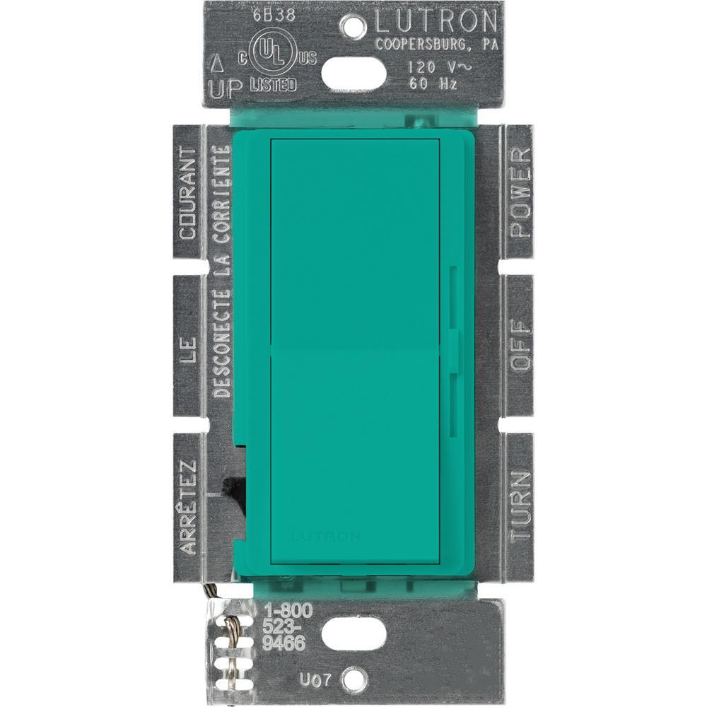 Lutron Diva 1000-Watt Single-Pole Preset Dimmer, Turquoise