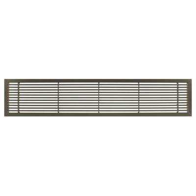 AG20 Series 6 in. x 30 in. Solid Aluminum Fixed Bar Supply/Return Air Vent Grille, Antique Bronze
