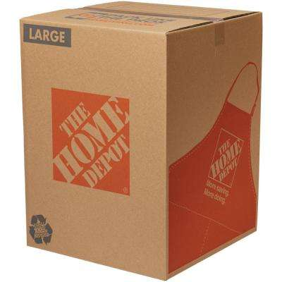 18 in. L x 18 in. W x 24 in. D Large Moving Box 25 Pack