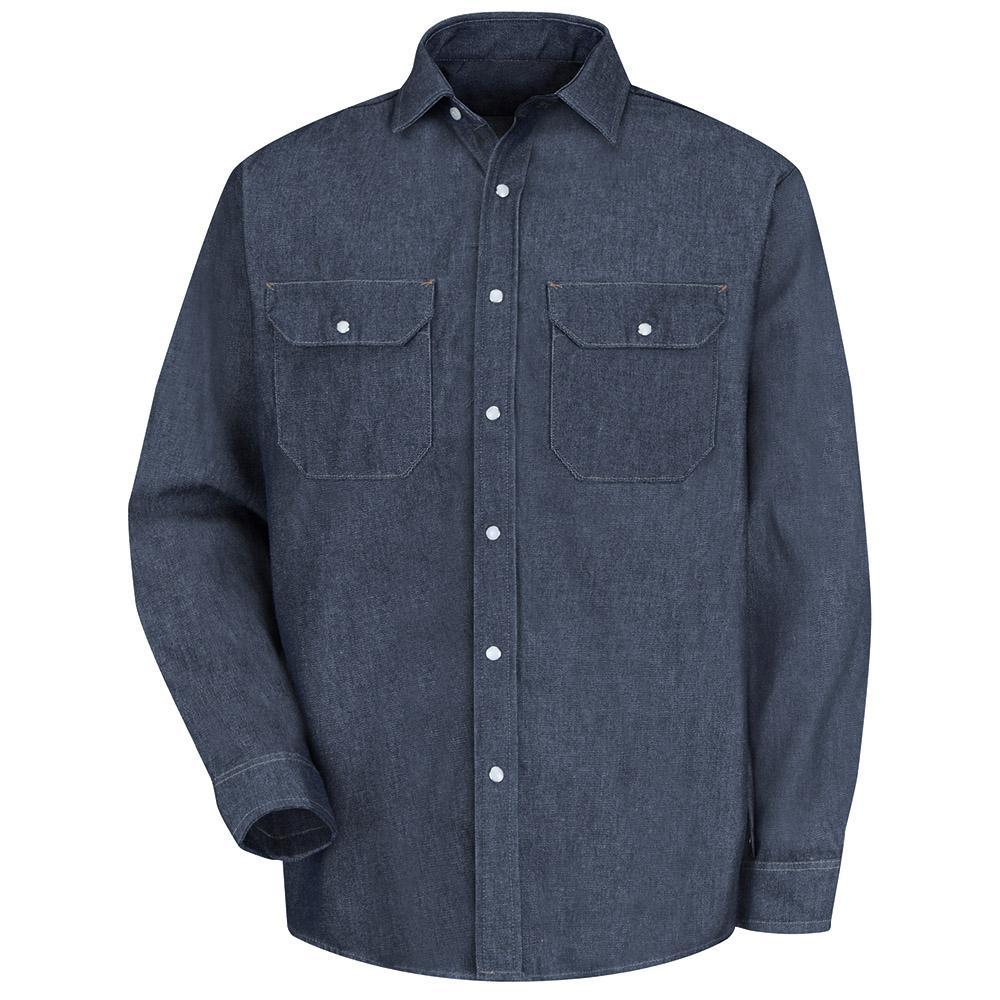79da89f856 Red Kap Men s Size XL (Tall) Denim Deluxe Denim Shirt-SD78DN LN XL ...