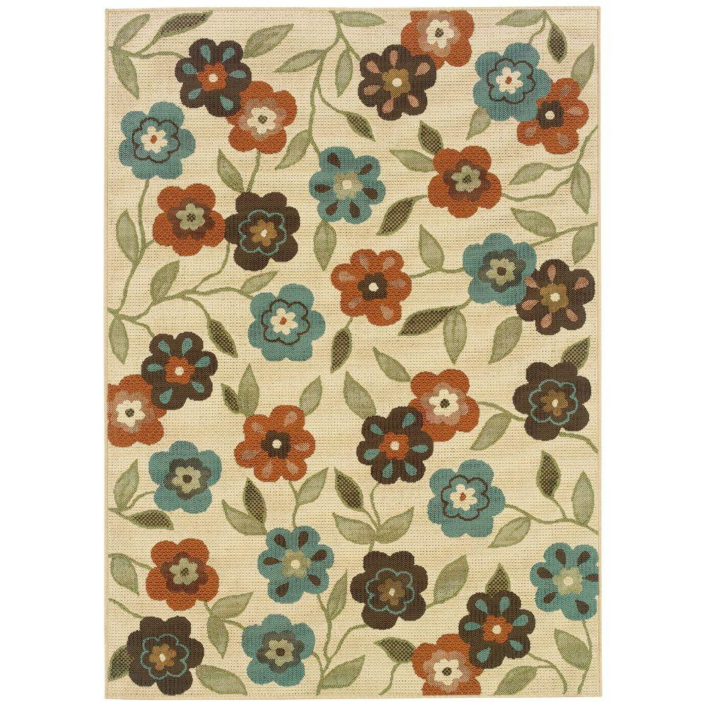 Oriental Weavers Summertime Beige 6 ft. 7 in. x 9 ft. 6 in. Area Rug