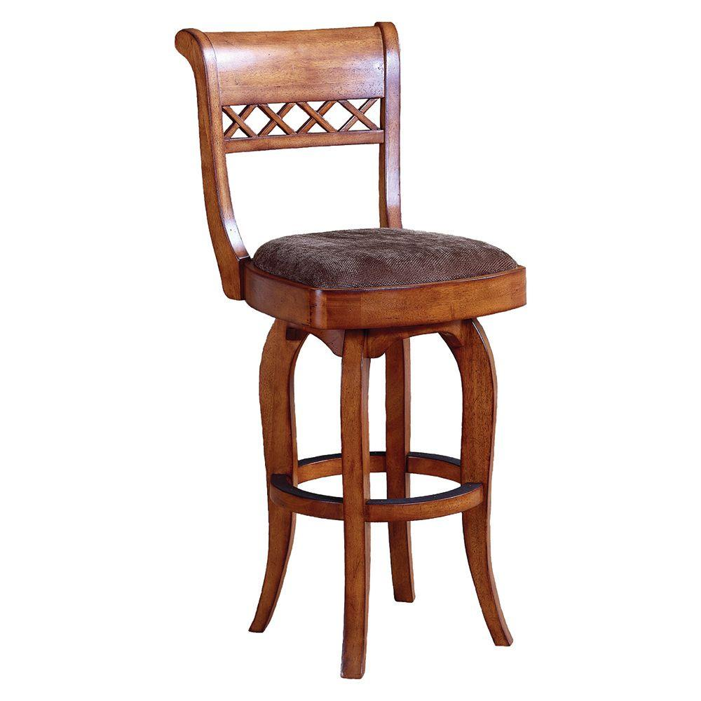 Grand Waters Hamilton 30 in. H Nutmeg Brown Cherry Bar Stool-DISCONTINUED