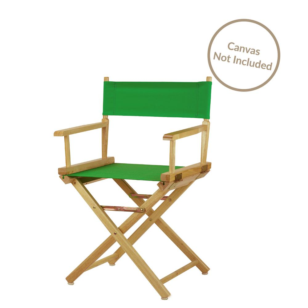 18 in. Director's Chair Natural Solid Wood Frame