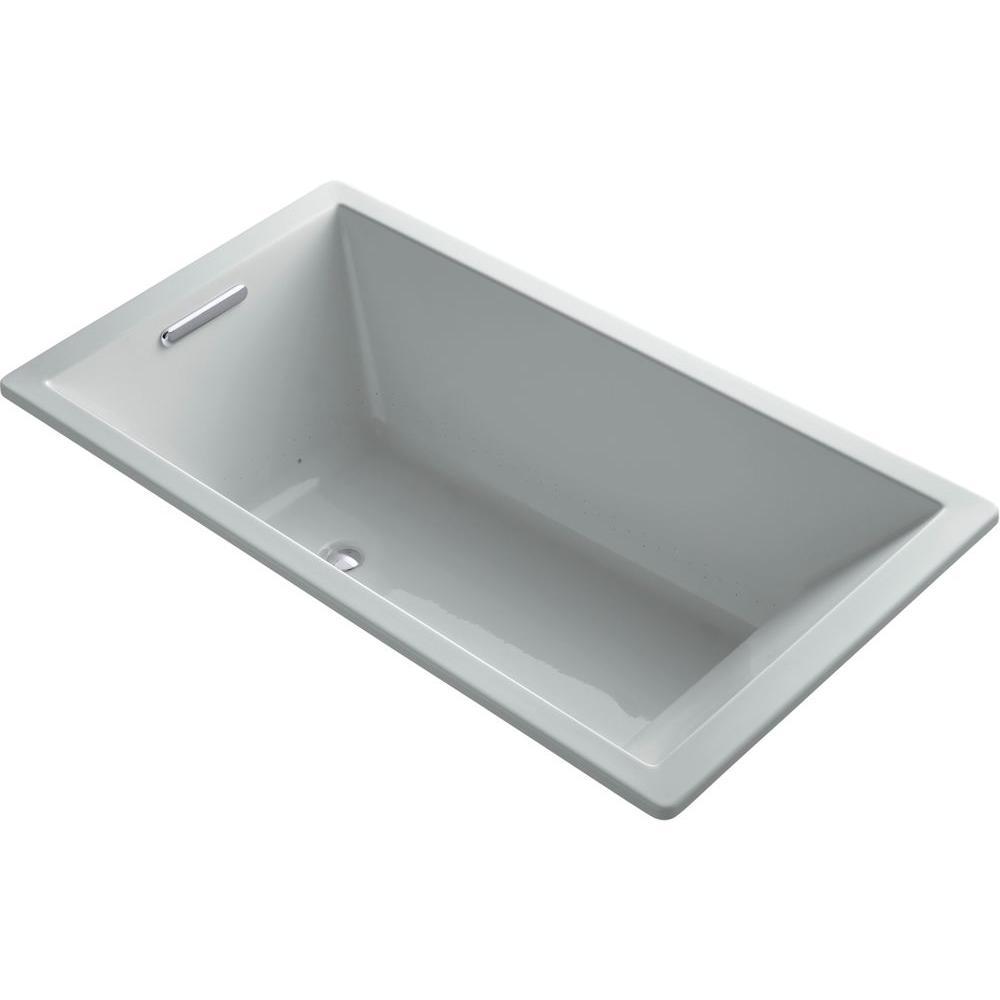KOHLER Underscore 5.5 ft. Air Bath Tub in Ice Grey