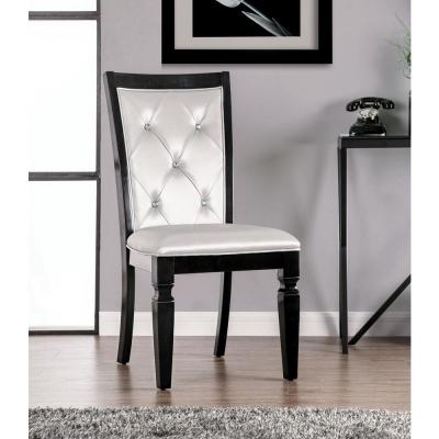 Raquel Black Upholstered Side Chairs (Set of 2)