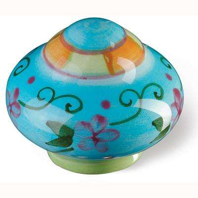 Botanico 1-1/2 in. Blue/Green/Orange Cabinet Knob