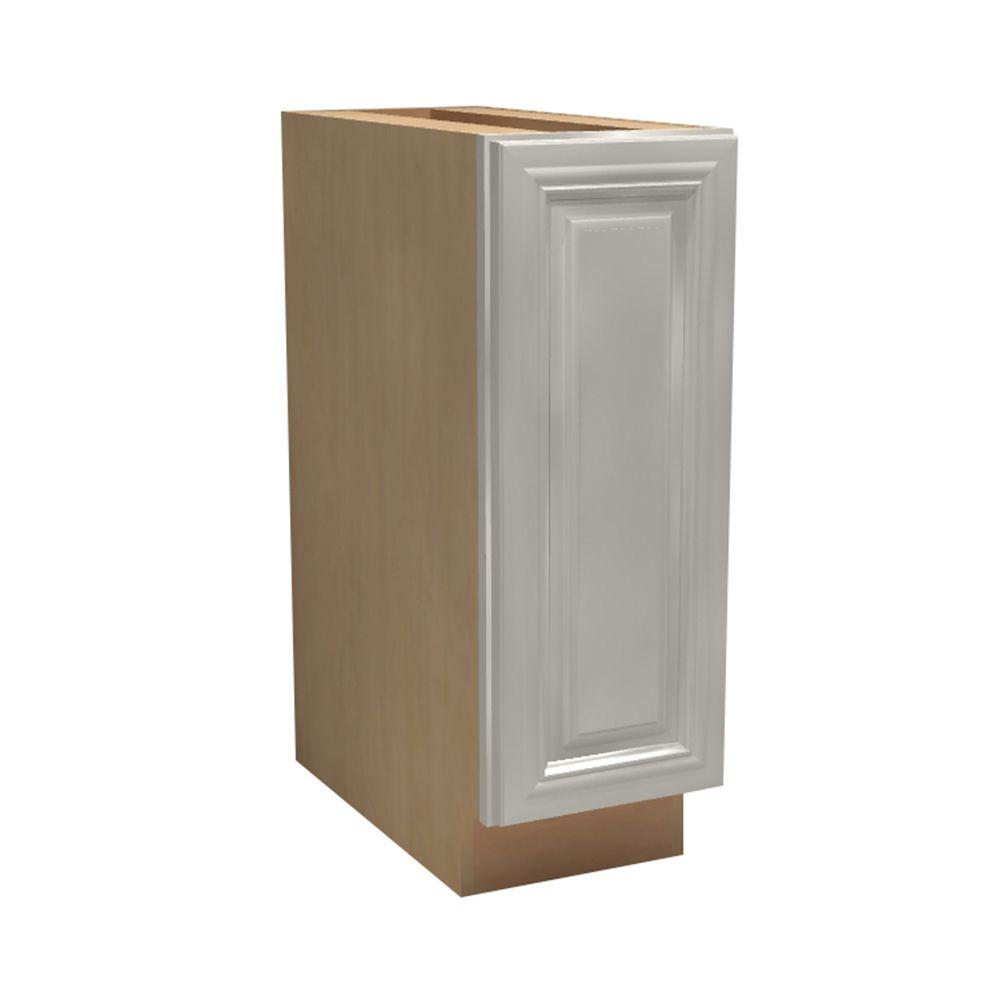Home Decorators Collection Coventry Assembled 21x34.5x24 in. Single Door Hinge Right Base Kitchen Cabinet in Pacific White