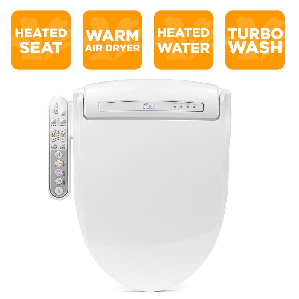 Prestige Electric Bidet Seat for Round Toilets in White