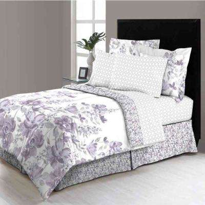 MHF Home Freida  Reversible Floral 8-piece Bed-in-a-Bag