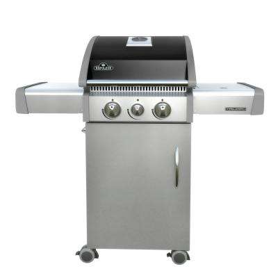Triumph 325 3-Burners Propane Gas Grill in Black and Stainless Steel with Side Burner