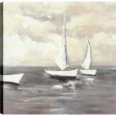Sea Boating II, Landscape Art, Unframed Canvas Print Wall Art 24X24 Ready to hang by ArtMaison.ca