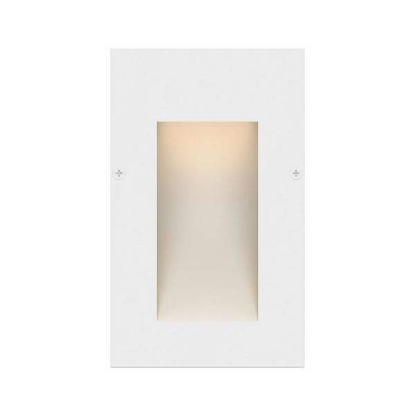 Taper Low-Voltage Satin White Integrated LED Vertical Stair Light