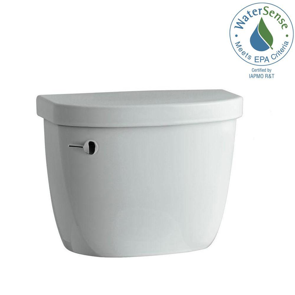 KOHLER Cimarron 1.28 GPF Single Flush Toilet Tank Only with AquaPiston Flushing Technology in Ice Grey