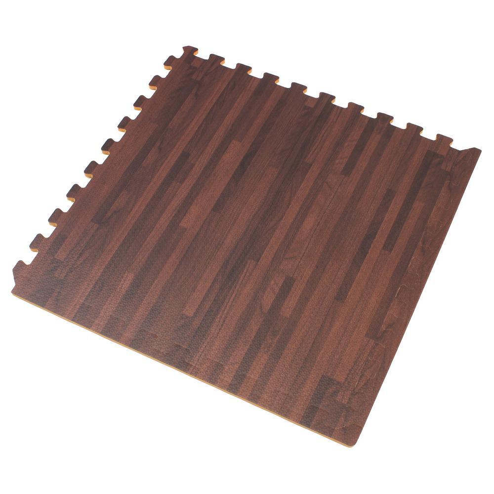 Forest Floor Cherry Printed Wood Grain 24 in. x 24 in. x 3/8 in. Interlocking EVA Foam Flooring Mat (24 sq. ft. / pack)