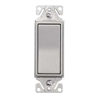 Single Pole Designer Switch in Silver Granite