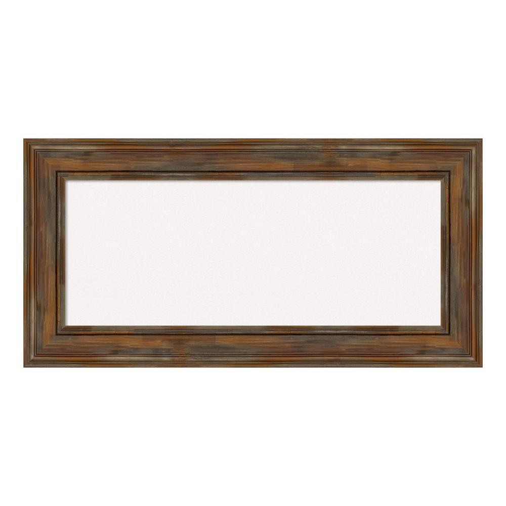 Alexandria Rustic Brown Framed White Cork Memo Board