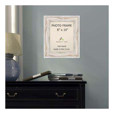 Alexandria 8 in. x 10 in. Whitewash Picture Frame