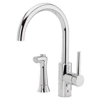 Solo Single-Handle Side Sprayer Kitchen Faucet in Polished Chrome