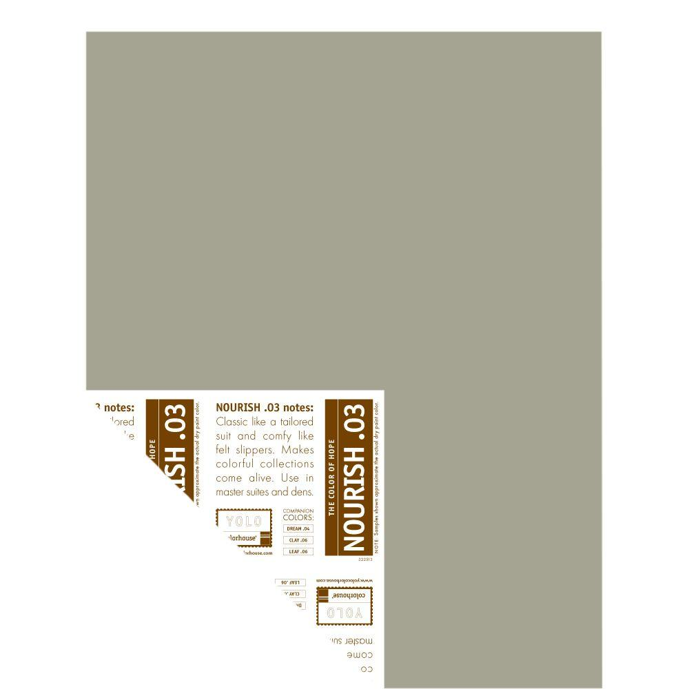 YOLO Colorhouse 12 in. x 16 in. Nourish .03 Pre-Painted Big Chip Sample