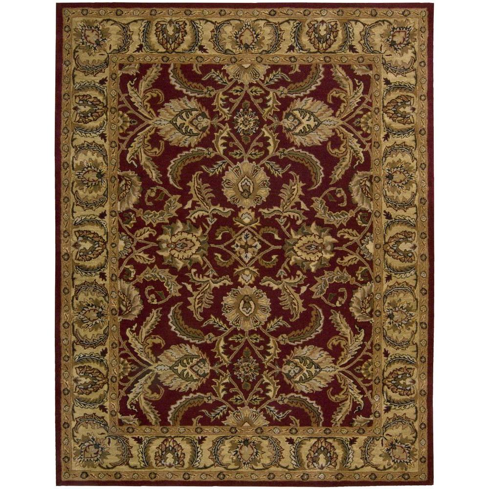 Nourison India House Burgundy 8 Ft. X 10 Ft. 6 In. Area