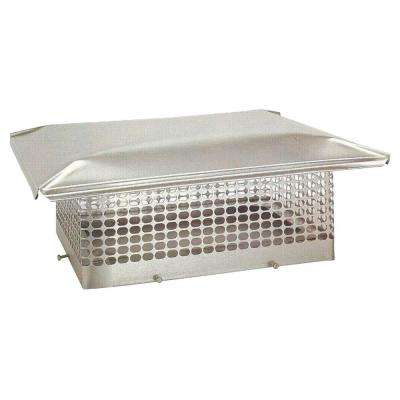 10 in. x 17 in. Adjustable Stainless Steel Chimney Cap